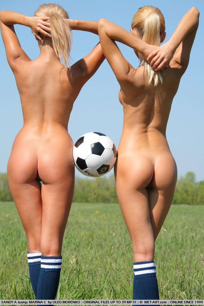 Marina C, Sandy A In Soccer By Oleg Morenko-4003