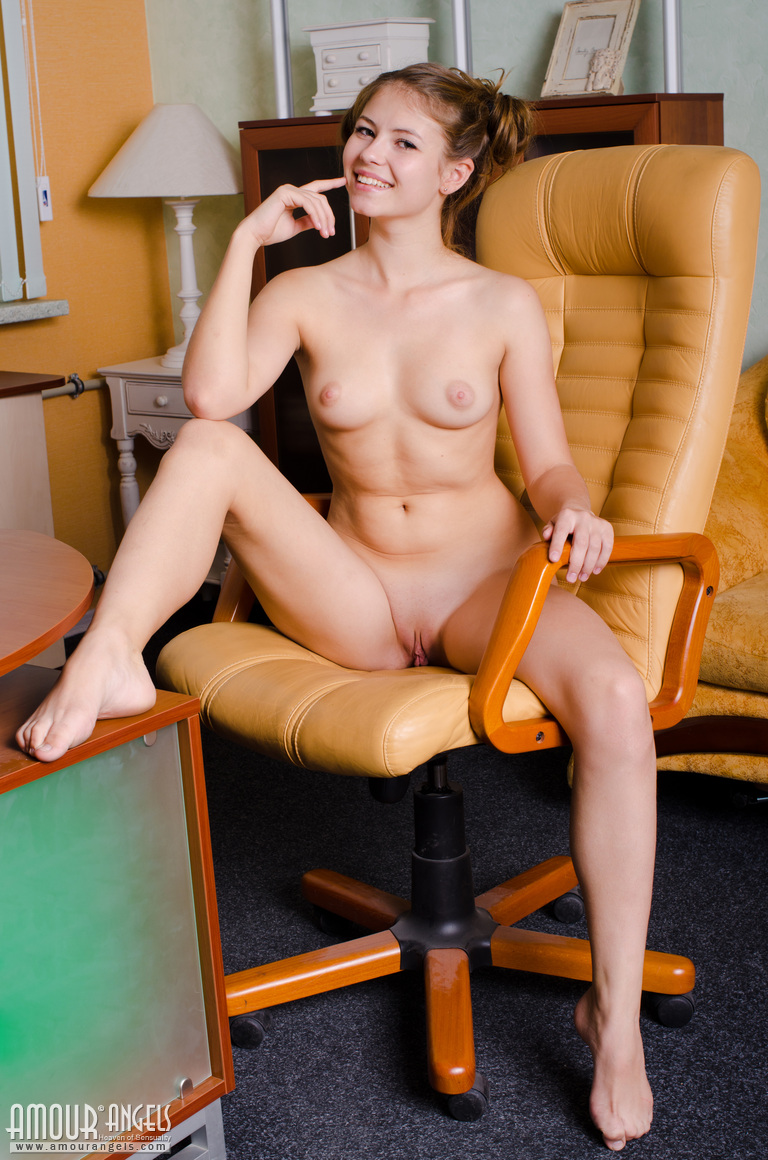 naked girls in the office