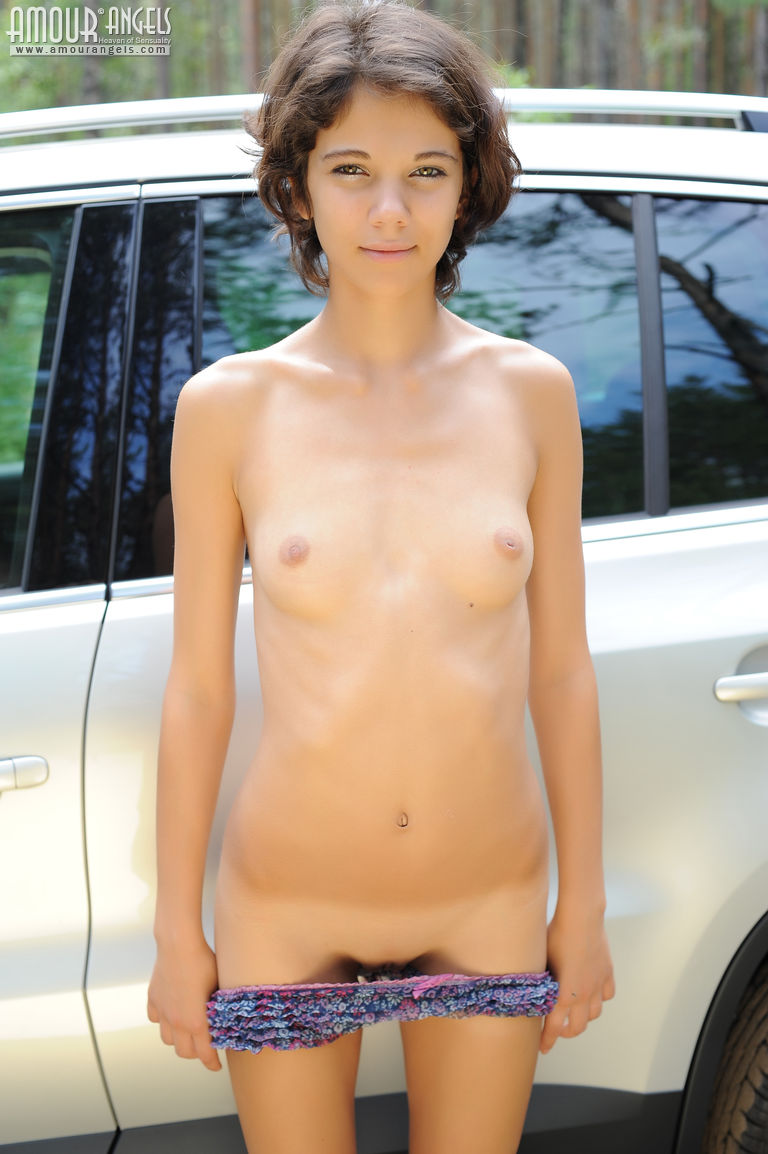 Fresh Teen By The Car-3579