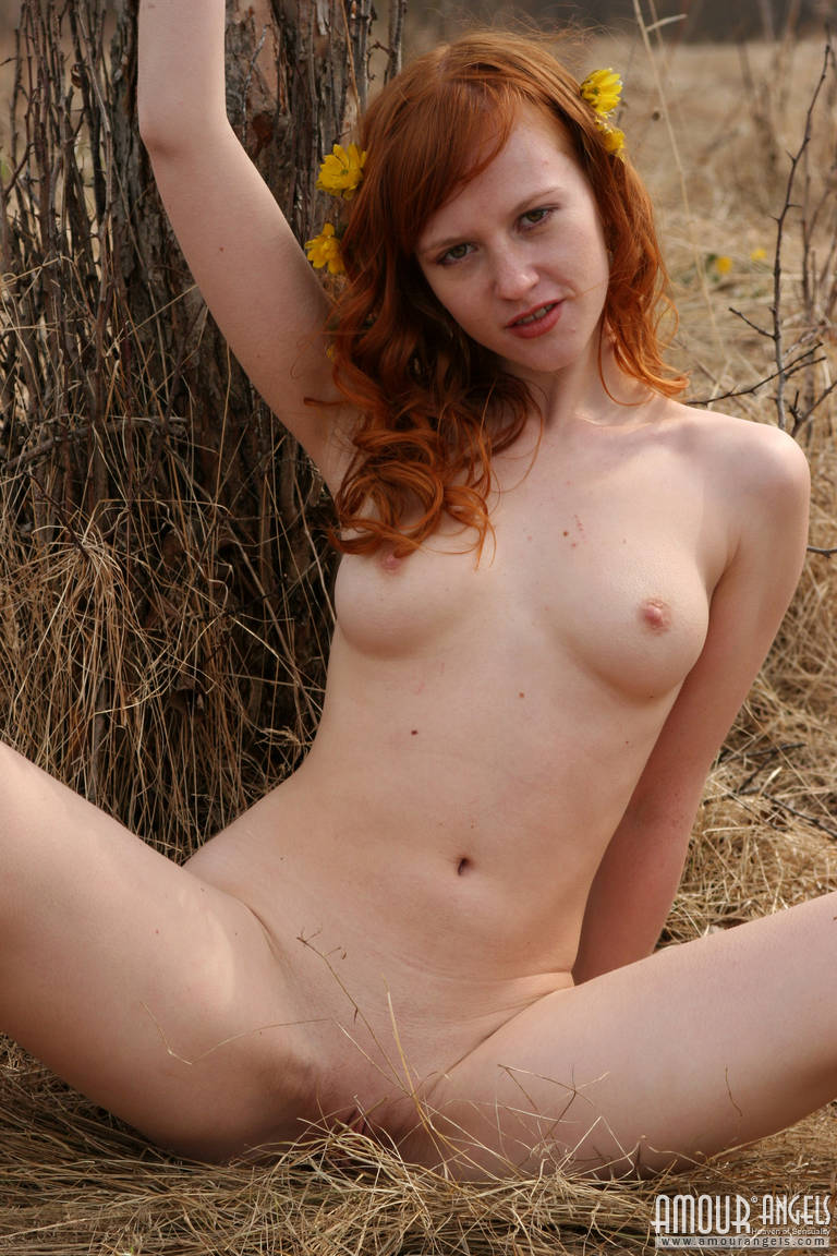Red-Haired Nude Nymph-7078