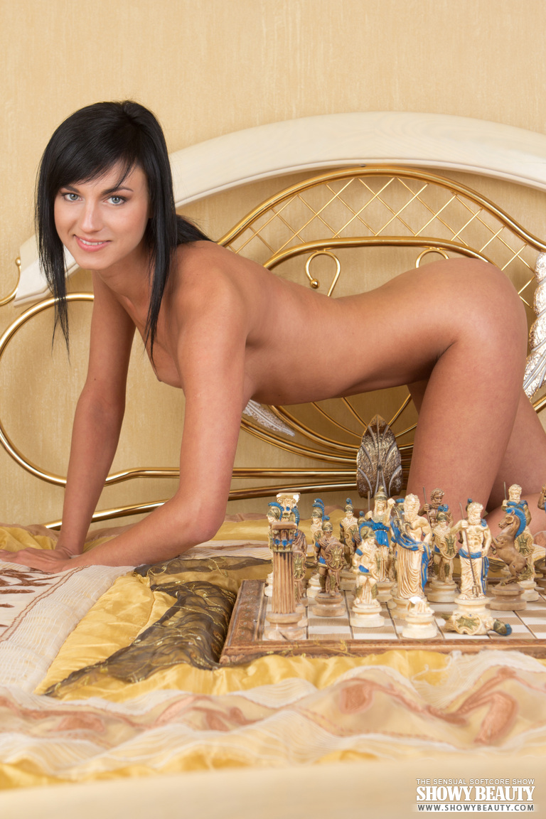 Sexy Chess Game With Brunette-3133