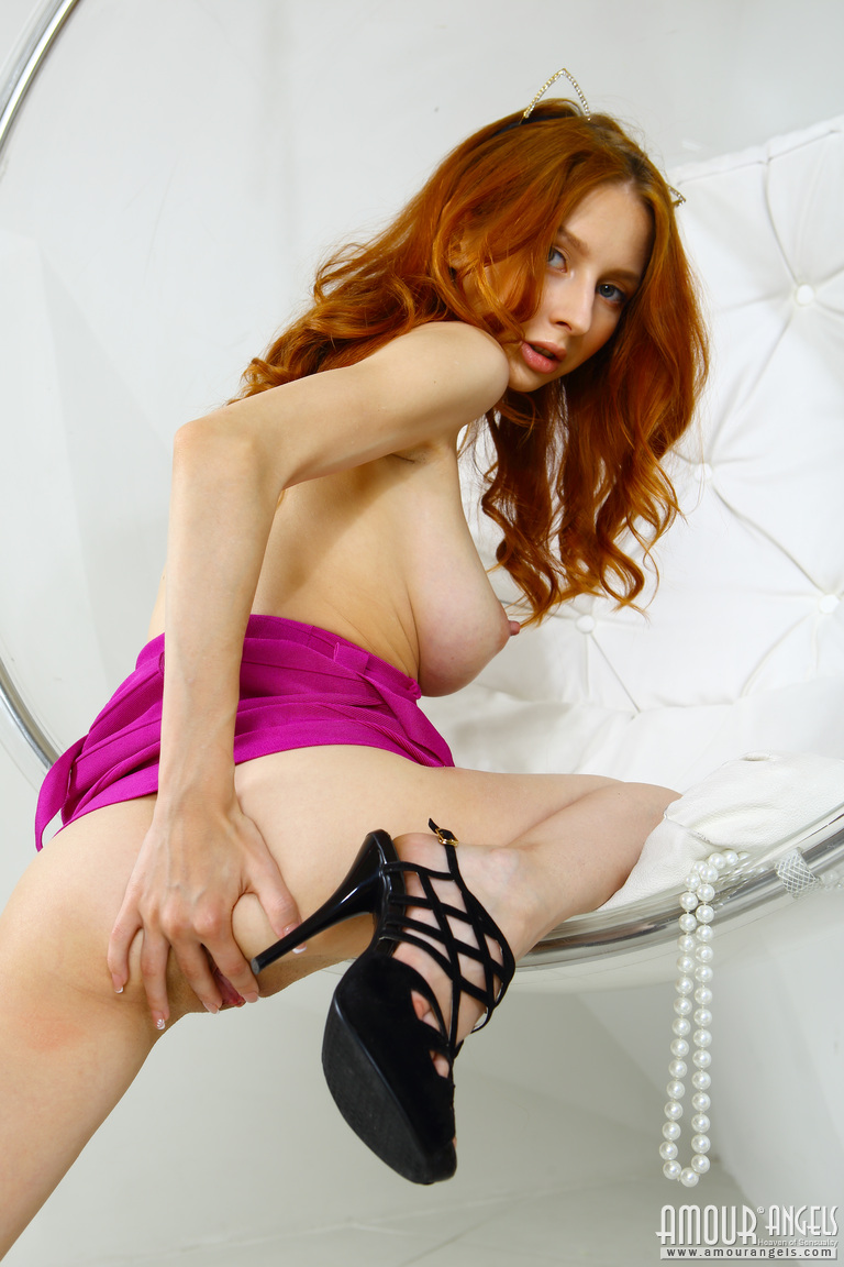 Slim Redhead Girl With Huge Tits-2144