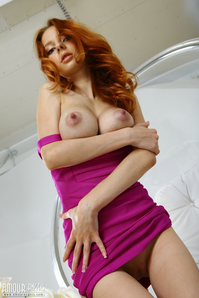 Slim Redhead Girl With Huge Tits-7460